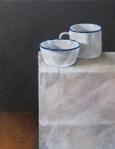 Enamel cup & bowl
