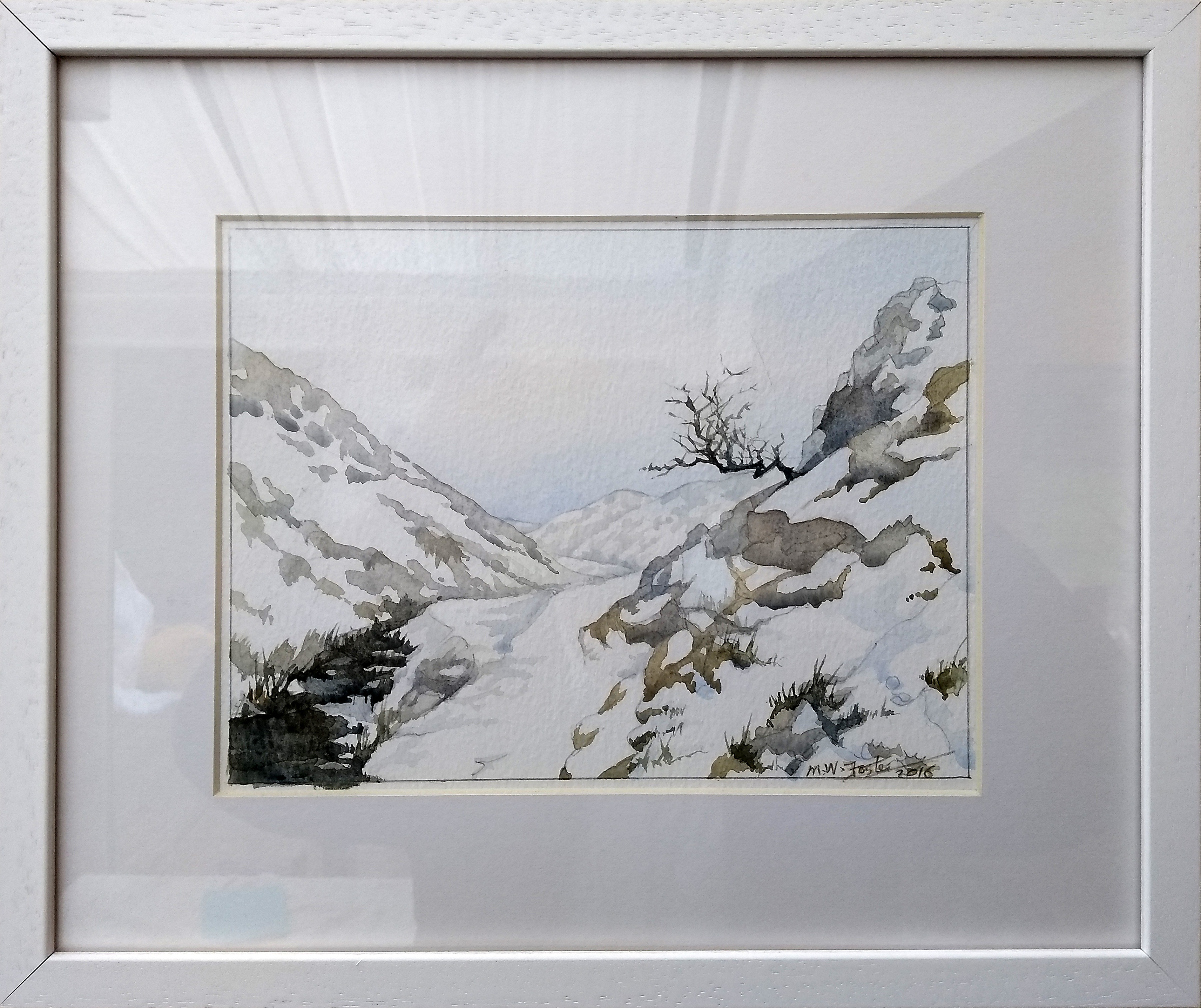 Snow, Cardingmill Valley-2 framed
